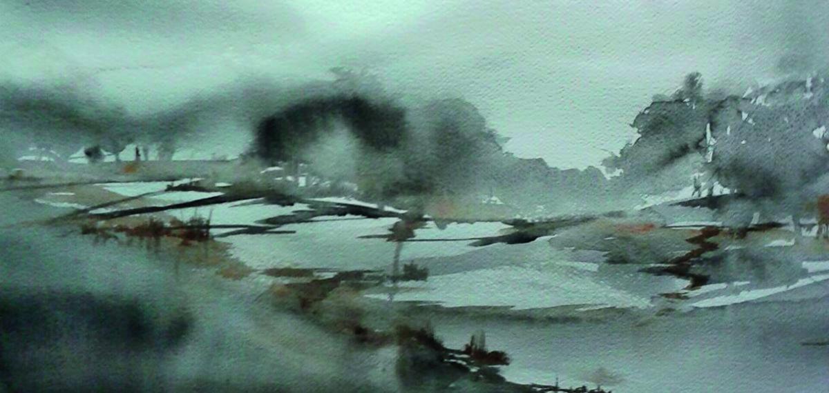 Magia del paesaggio-acquer.su carta