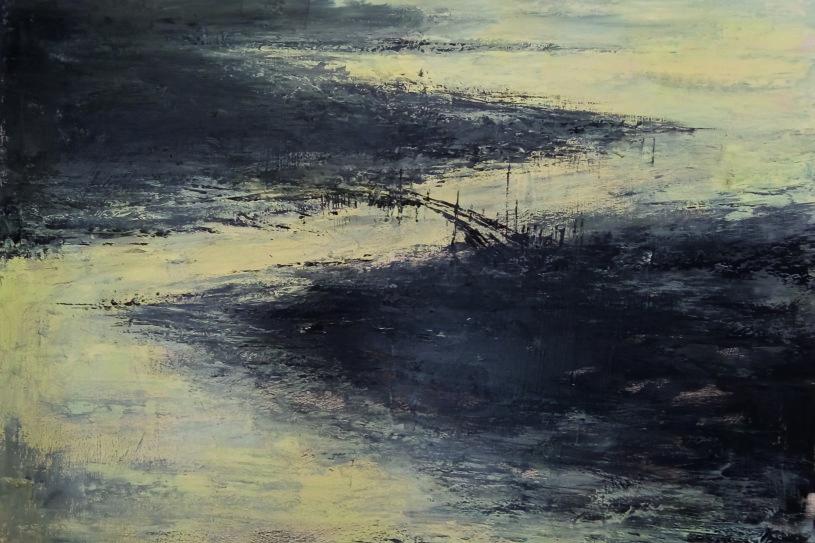 Sfuggita - olio su tela cm 115x115